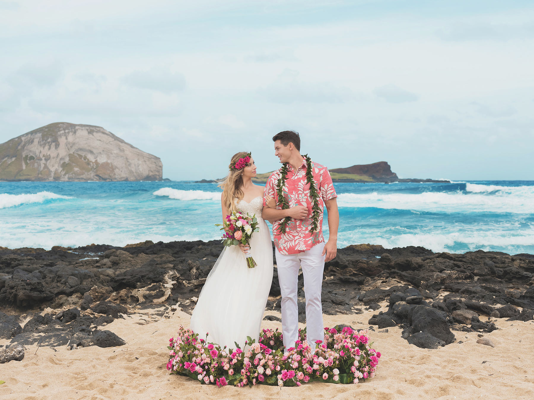 Hawaii Destination Wedding.Hawaii Beach Wedding Std 하와이웨딩 라벨라하와이 Labella Hawaii